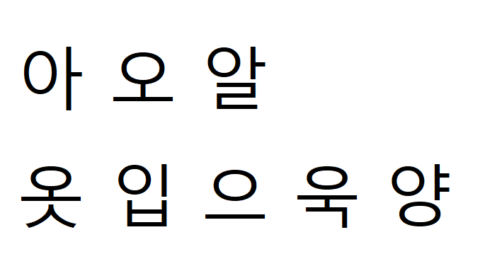 Koreański alfabet