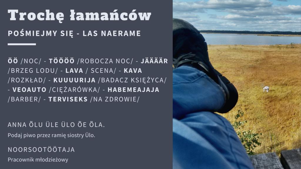 język estoński, łamańce