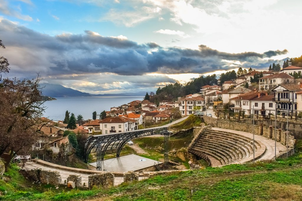 Macedonia, widok. Podpis: ...i macedoński